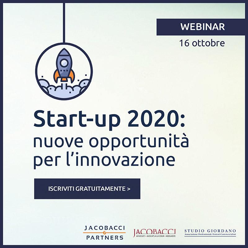 Start-Up 2020: nuove opportunità per l'innovazione.