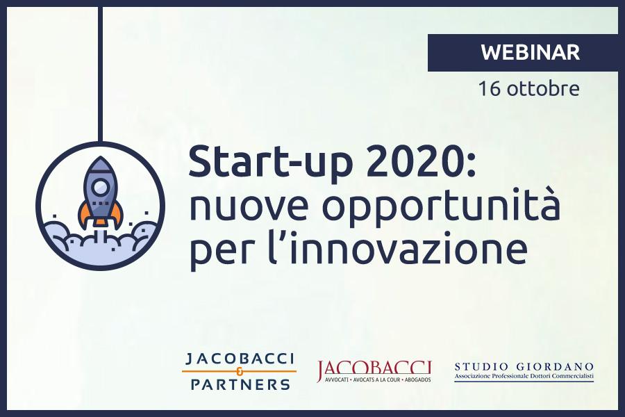 Start-up 2020: nuove opportunità per l'innovazione