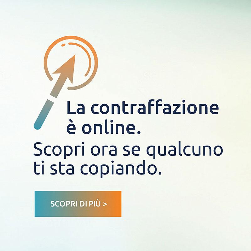 La contraffazione è online. Scopri ora se qualcuno ti sta copiando. Scopri di più >